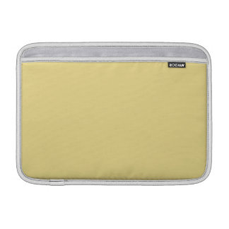 Custard Yellow High End Solid Color MacBook Air Sleeves