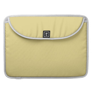 Custard Yellow High End Solid Color Sleeve For MacBooks