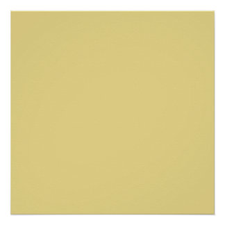 Custard Yellow High End Solid Color Poster