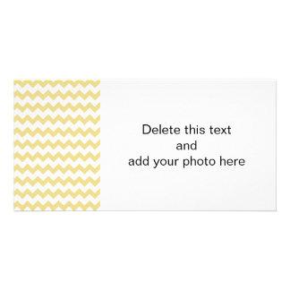 Custard Yellow White Chevron Pattern Card