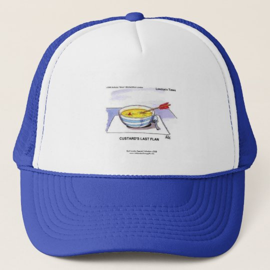Custards Last Flan Funny Cartoon Cap