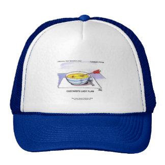 Custards Last Flan Funny Cartoon Cap Trucker Hat