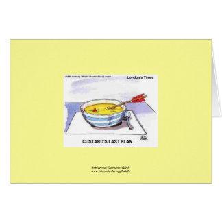 Custards Last Flan Funny Cartoon Note Card
