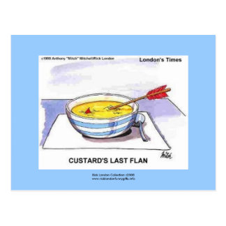 Custards Last Flan Funny Cartoon Postcards