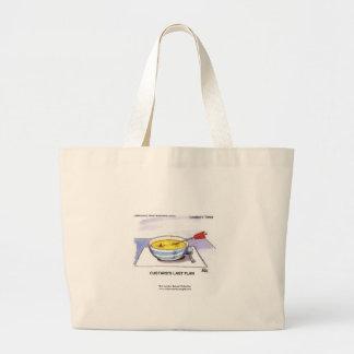 Custards Last Flan Funny Cartoon Tote Bag Bag