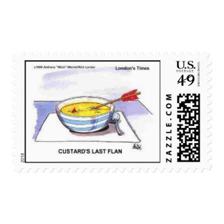 Custards Last Flan Funny Real Postage Stamps