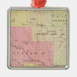 Custer and Logan County, Nebraska Metal Ornament