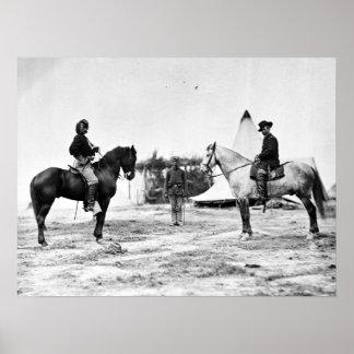 Custer and Pleasanton Poster