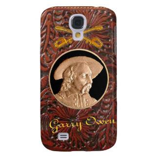 """""""Custer"""" equipó la caja occidental de cuero de Funda Samsung S4"""