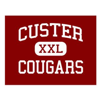 Custer - pumas - alto - Milwaukee Wisconsin Tarjetas Postales