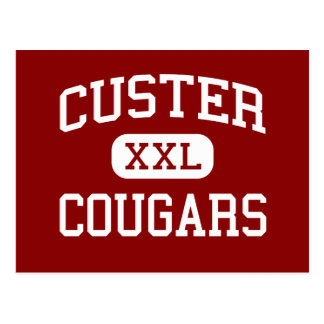 Custer - pumas - alto - Milwaukee Wisconsin Tarjeta Postal