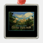 Custer State Park Square Metal Christmas Ornament