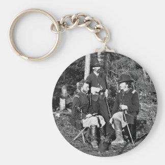 Custer y amigos, 1860s llavero redondo tipo pin