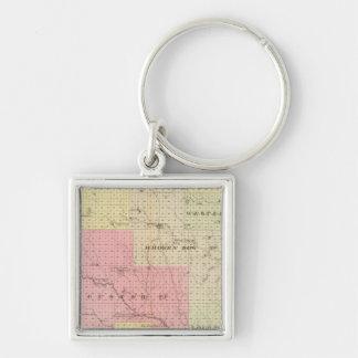 Custer y el condado de Logan, Nebraska Llavero Cuadrado Plateado