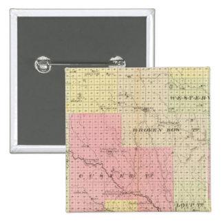 Custer y el condado de Logan, Nebraska Pin Cuadrado