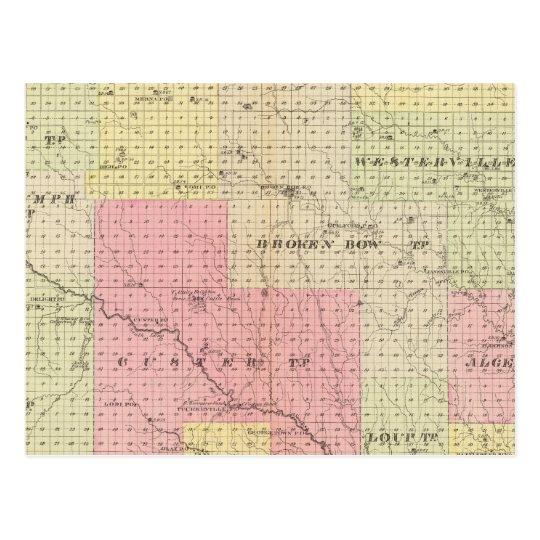 Custer y el condado de Logan, Nebraska Tarjetas Postales
