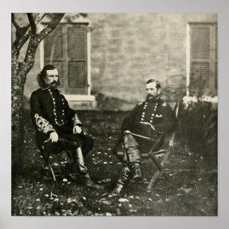 Custer y Pleasonton Póster