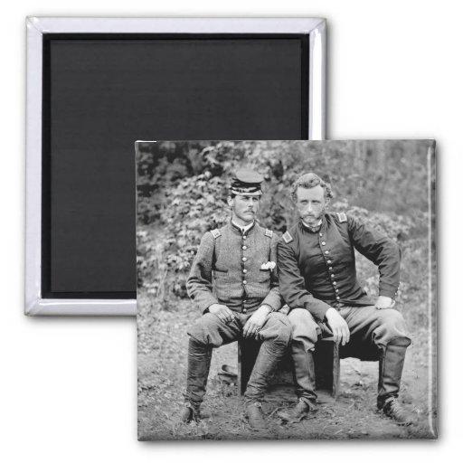 Custer y preso, 1862 imán cuadrado