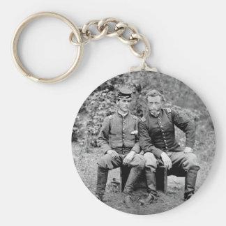Custer y preso, 1862 llavero redondo tipo pin