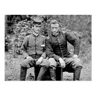 Custer y preso, 1862 tarjeta postal