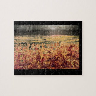 Custer's Last Fight', Unknown_Art of America Jigsaw Puzzle