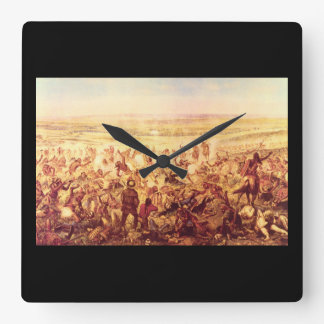 Custer's Last Fight', Unknown_Art of America Square Wall Clock