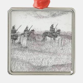 Custers last stand metal ornament