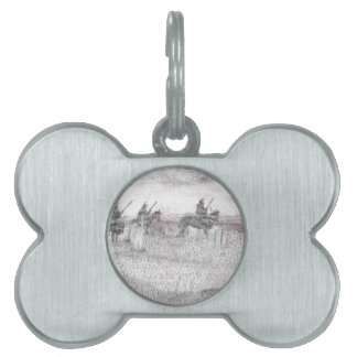 Custers last stand pet name tag