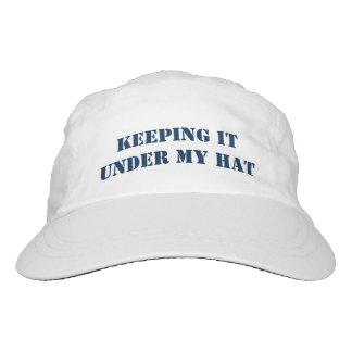 Custodia de él bajo mi texto del personalizable gorra de alto rendimiento