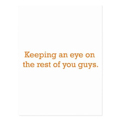 Custodia de un ojo tarjeta postal