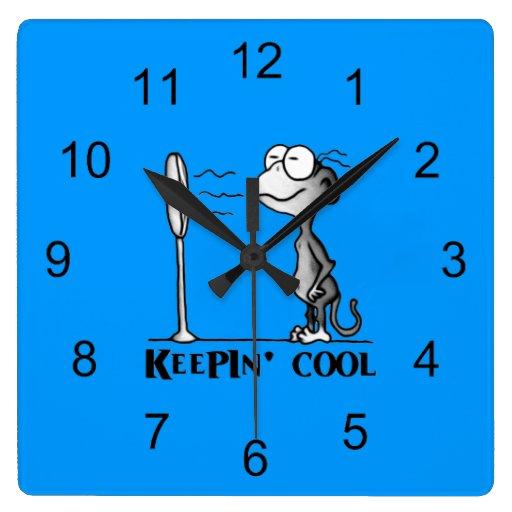 Custodia del mono fresco reloj cuadrado