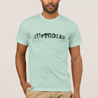 Custodian_Cool Font_Crap Job T-Shirt