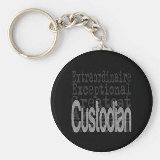 Custodian Extraordinaire Basic Round Button Keychain