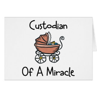 Custodian Of A Miracle New Mom Greeting Card