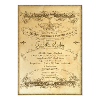 custom 100th birthday invitations