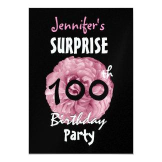 Custom 100th SURPRISE Birthday Party Invitation