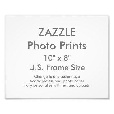 "ZazzleDesignBlank Custom 10"" × 8"" Photo Print (US Frame Size)"