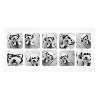 Custom 10 Photo Collage with rounded frames Card