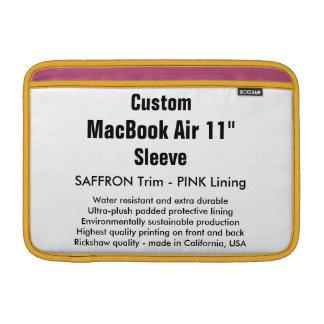 "Custom 11"" MacBook Air Sleeve (H) Saffron & Pink"