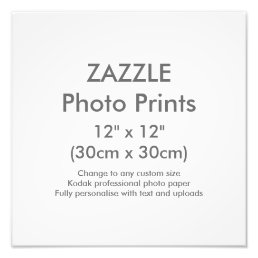 "Custom 12"" x 12"" Square Photo Print Template"