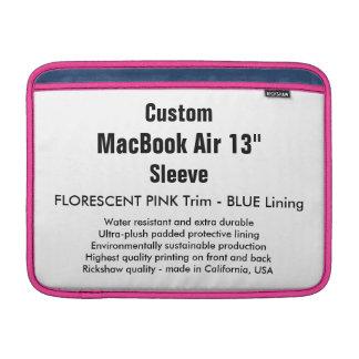 """Custom 13"""" MacBook Air Sleeve (H) Pink & Blue"""