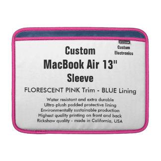 "Custom 13"" MacBook Air Sleeve (H) Pink, Cadet Blue"