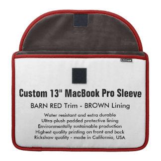 """Custom 13"""" MacBook Pro Sleeve - Barn Red & Brown"""