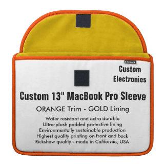 "Custom 13"" MacBook Pro Sleeve - Orange & Gold"