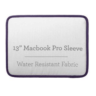 Custom 13in Macbook Pro Sleeve