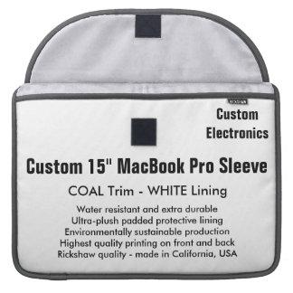 """Custom 15"""" MacBook Pro Sleeve - Coal & White"""