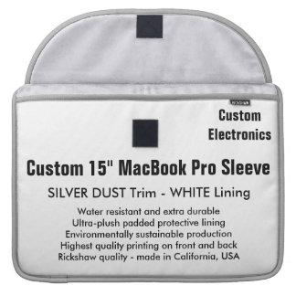 "Custom 15"" MacBook Pro Sleeve - Silver & White"
