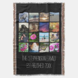 Custom 16 Photo Collage Vertical Mosaic Picture Throw