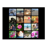 Custom 16 Photo Mosaic Picture Collage Postcard
