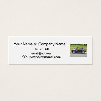 custom 1930s chubby classic mini business card
